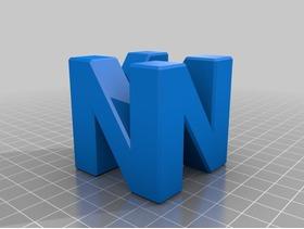 字母N的3D造型